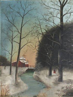 Anna H (American, 19th Century) White River Scene W