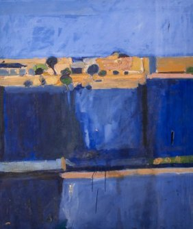 Heinz Daschke (20th Century) Abstract Landscape, Ac