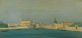 Mario Dinon (1914-1967) Canal Grande Da S. Chiara,