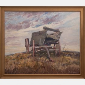 Francis Clark Brown (1908-1992) Landscape With Wagon,