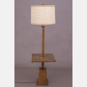 An A. Brandt Ranch Oak Floor Lamp, 20th Century.