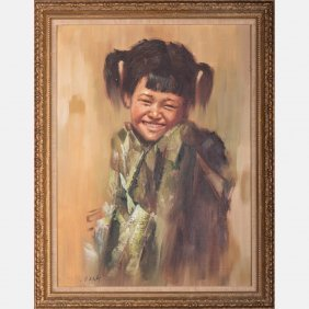 After Lee Man Fong (1913-1988) Portrait Of A Young