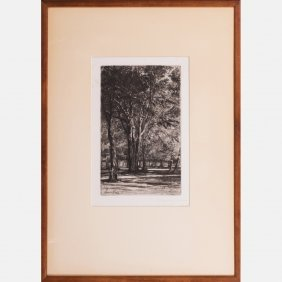Francis Seymour-haden (1818-1910) Kensington Gardens,