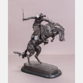 After Frederic Remington (1861-1909) Bronco Rider,