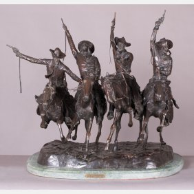 After Frederic Remington (1861-1909) Coming Thru The