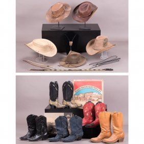 A Collection Of Western Themed Items, 20th Century,