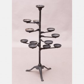A Victorian Wrought And Painted Metal Plant Stand, 20th