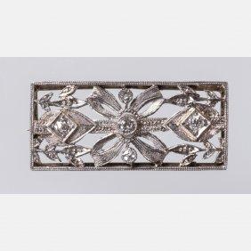 A Platinum And Diamond Brooch,