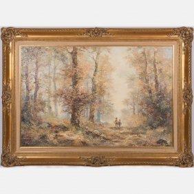 Jules Polek (20th Century) Autumn Landscape