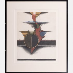 Tuvia Beeri (b. 1929) Untitled, Etching In Colors,