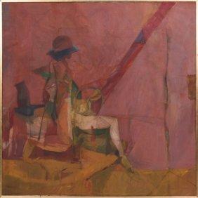 Robert Brisley (american, 20th Century) Fisherman, Oil