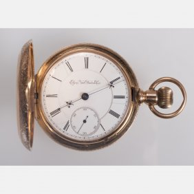 An Elgin 14kt. Yellow Gold Pocket Watch, 20th Century.