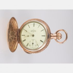 An Elgin Gold Plated Pocket Watch, 20th Century,