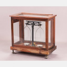 A Short Beam Analytical Balance By Henry Troemner For