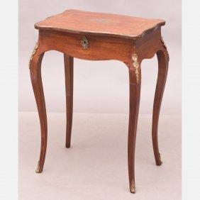 A Louis Xvi Style Mahogany Table, 19th Century,