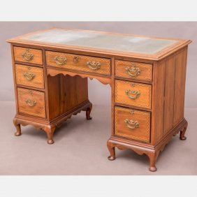 A Georgian Style Mahogany Kneehole Desk By Maple And