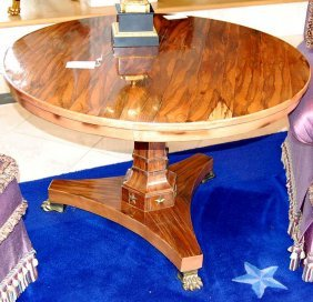 French Empire Rosewood Center Table