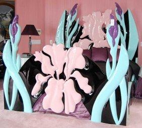 Art Nouveau Style Jane Goco Iris Bed