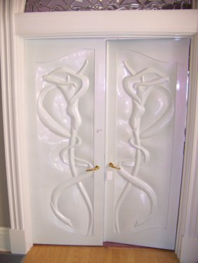 Pair Of Art Nouveau Jane Goco Doors