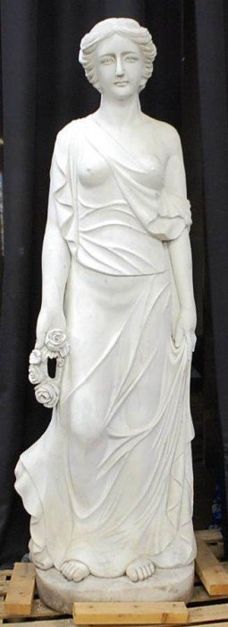 LIFESIZE CARVED MARBLE GARDEN MAIDEN