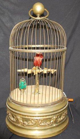 LARGE GERMAN SINGING BIRD IN CAGE