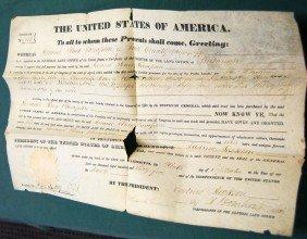 PRESIDENT ANDREW JACKSON SIGNED LAND DEED-1835