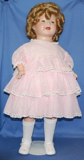LARGE EARLY SHIRLEY TEMPLE DOLL 27 INCH