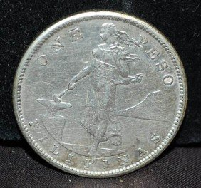 1907-S PHILLIPINES ONE PESO