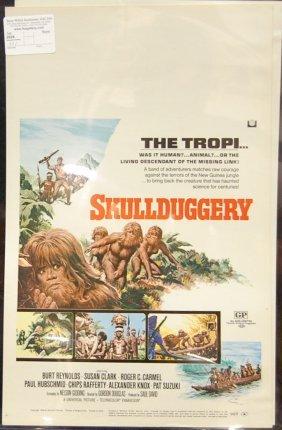 Skullduggery (1970) Window Card