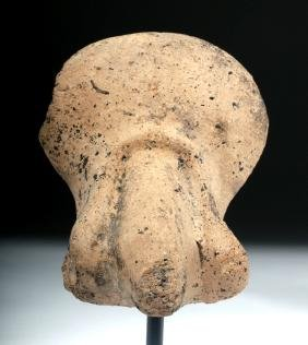 Roman Pottery Votive Of Penis & Testes