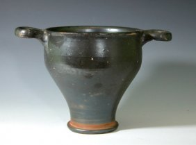 Greek Apulian Blackware Skyphos