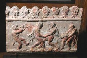 Important Greco-Roman Plaque - Satyrs