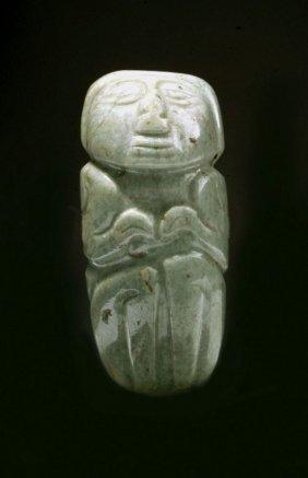 Pre-Columbian Figurative Stone Pendant