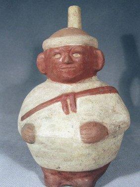 Pre-Columbian Moche IV Stirrup Vessel