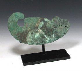 Peruvian Bronze Tumi, Reptilian Blade