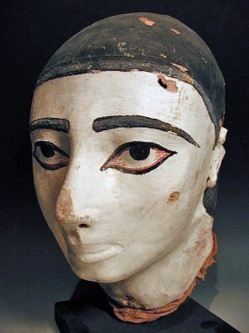 An Egyptian Mummy Mask Of A Female Child
