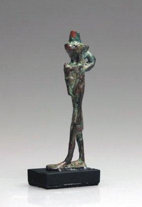 An Egyptian Bronze Nefertum Amulet