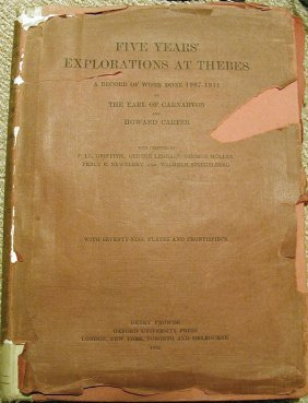 5 Years Exploration At Thebes, Howard Carter