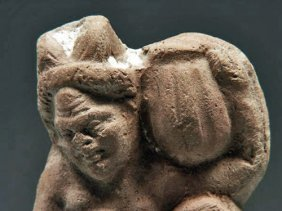 A Terracotta Figure Of Pan