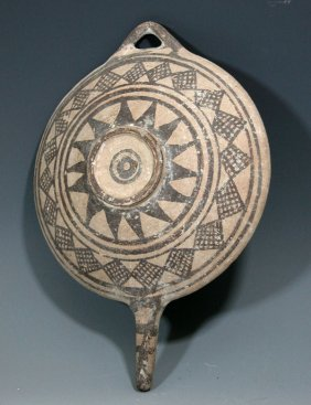 A  Cypriot Handled Serving Plate / Platter
