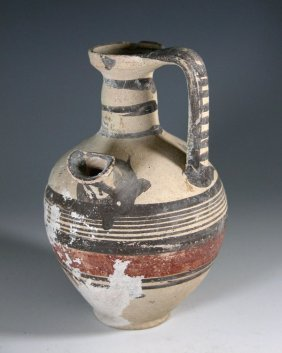 A Cypriot Bi-Chrome Pouring Vessel