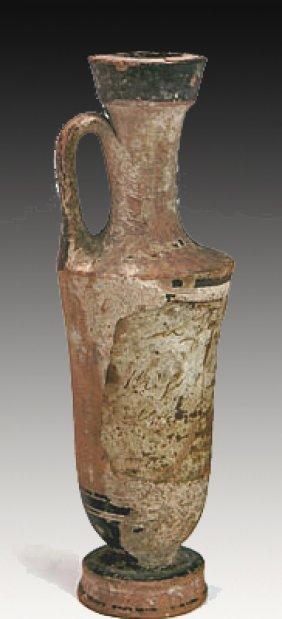 Greek White Ground Terracotta Lekythos