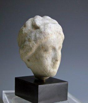 Greek Hellenistic Marble Head, Ex-Charles Ede