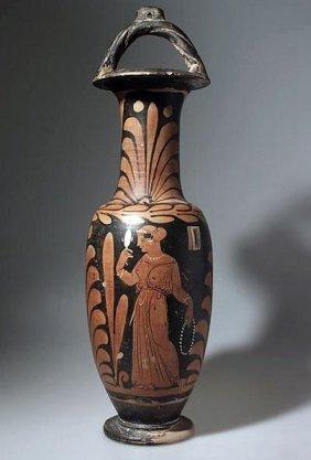 A Greek Campanian Bail Amphora, Whiteface Painter