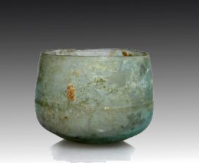 A Roman Glass Deep Bowl