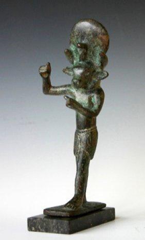 An Egyptian MNEVIS Bronze Figure Heliopolis