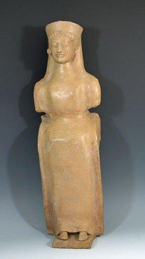 A Monumental Greek Terracotta Idol - Rhodes
