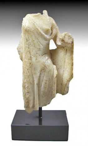A Greek Alabaster Statuette Of Aphrodite