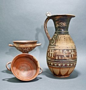 "An Etruscan ""Wine Set"" - 3 Pcs"