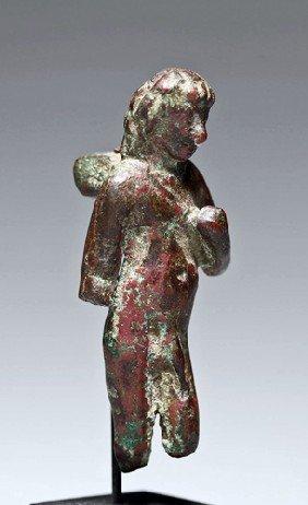 A Roman Bronze Votive Figure